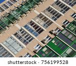 the texture of the building....   Shutterstock . vector #756199528