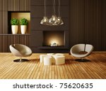 modern interior room with nice... | Shutterstock . vector #75620635