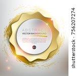 abstract vector background.... | Shutterstock .eps vector #756207274