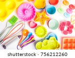 rainbow silicone confectionery ... | Shutterstock . vector #756212260