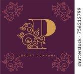 vector graphic elegant logotype ... | Shutterstock .eps vector #756213799