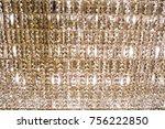 expensive crystal chandelier | Shutterstock . vector #756222850