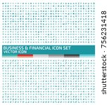 business and finance icon set... | Shutterstock .eps vector #756231418