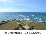 green and blue horizon | Shutterstock . vector #756232060