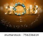 illustration of happy new year... | Shutterstock . vector #756236614