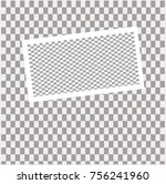 photo frame with shadow on... | Shutterstock .eps vector #756241960