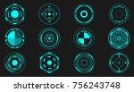 hud futuristic elements circle...