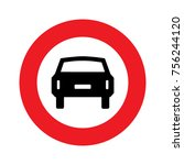 road sign used in italy   no... | Shutterstock .eps vector #756244120