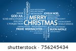 word cloud with text merry... | Shutterstock .eps vector #756245434