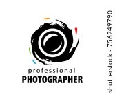 vector logo for photographer | Shutterstock .eps vector #756249790