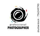 vector logo for photographer | Shutterstock .eps vector #756249790