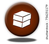box button isolated  3d... | Shutterstock . vector #756251179