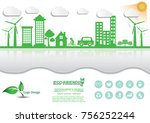 ecology connection  concept... | Shutterstock .eps vector #756252244