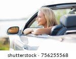 travel  road trip and people... | Shutterstock . vector #756255568