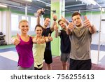 fitness  sport  exercising and... | Shutterstock . vector #756255613