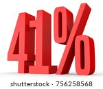 forty one percent off. discount ... | Shutterstock . vector #756258568