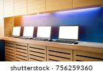 internet cafe interior with... | Shutterstock . vector #756259360