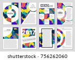 abstract vector layout... | Shutterstock .eps vector #756262060