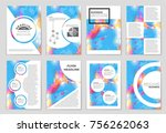 abstract vector layout... | Shutterstock .eps vector #756262063