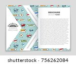 abstract vector layout... | Shutterstock .eps vector #756262084