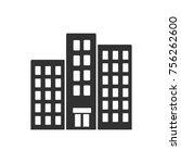 high rise building. monochrome... | Shutterstock .eps vector #756262600