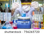 scientists are boiling and... | Shutterstock . vector #756265720