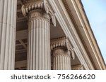 vintage old justice courthouse... | Shutterstock . vector #756266620