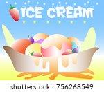 christmas ice cream | Shutterstock .eps vector #756268549