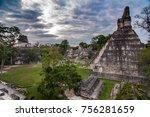 tikal ruins in guatemala | Shutterstock . vector #756281659