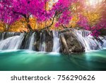 Amazing Waterfall At Colorful...