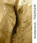tall golden rock cliff | Shutterstock . vector #756293149
