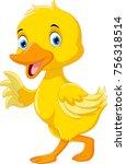 cute duck cartoon  | Shutterstock . vector #756318514