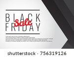 black friday sale poster design | Shutterstock .eps vector #756319126