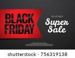 black friday sale poster design | Shutterstock .eps vector #756319138