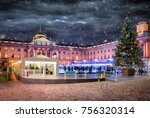 the somerset house in london...   Shutterstock . vector #756320314