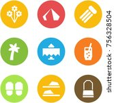 origami corner style icon set   ... | Shutterstock .eps vector #756328504