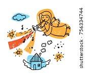 Illustration Of A Flying...