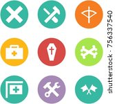 origami corner style icon set   ... | Shutterstock .eps vector #756337540