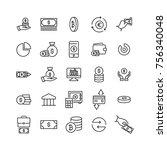 premium set of money line icons....   Shutterstock .eps vector #756340048