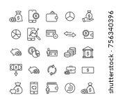 modern outline style money...   Shutterstock .eps vector #756340396
