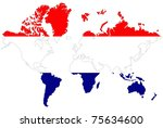 world map background with... | Shutterstock . vector #75634600