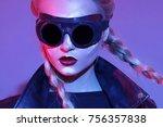 beauty makeup and hair in studio | Shutterstock . vector #756357838