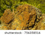 closeup of rocky surface of... | Shutterstock . vector #756358516