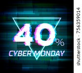 cyber monday sale discount... | Shutterstock .eps vector #756359014
