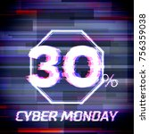 cyber monday sale discount... | Shutterstock .eps vector #756359038