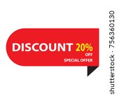 big sale percent off special... | Shutterstock .eps vector #756360130