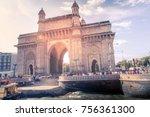 local and international tourist ... | Shutterstock . vector #756361300