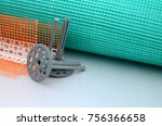 a set of construction items for ... | Shutterstock . vector #756366658