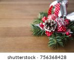 holiday christmas decorative... | Shutterstock . vector #756368428