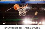 scoring during a basketball... | Shutterstock . vector #756369358
